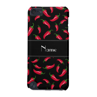 Personalized name black red chili pepper iPod touch (5th generation) cases