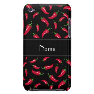 Personalized name black red chili pepper barely there iPod covers