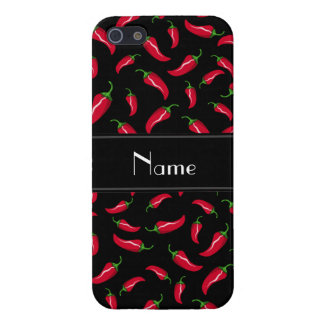Personalized name black red chili pepper iPhone 5/5S case