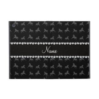 Personalized name black unicorn pattern case for iPad mini