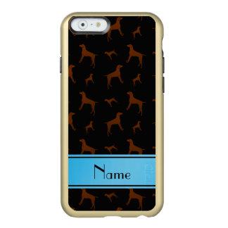 Personalized name black Vizsla dogs Incipio Feather® Shine iPhone 6 Case