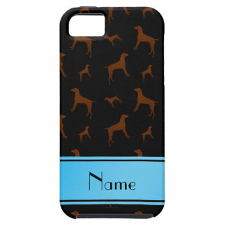 Personalized name black Vizsla dogs iPhone 5 Covers