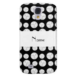 Personalized name black volleyball balls galaxy s4 case