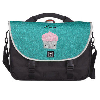 Personalized name bling cupcake diamonds commuter bags