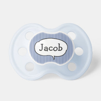 Personalized Name Blue Baby Boy Pacifier