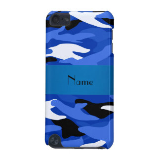 Personalized name blue camouflage iPod touch 5G covers
