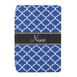 Personalized name Blue moroccan iPad Mini Cover