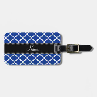 Personalized name Blue moroccan Luggage Tag