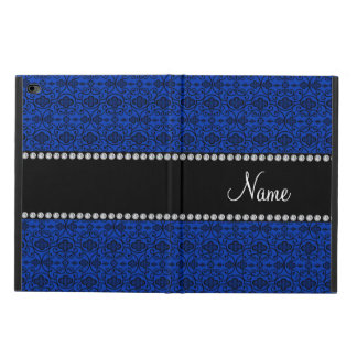 Personalized name blue moroccan swirls powis iPad air 2 case