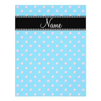 Personalized name blue pink diamonds flyer design