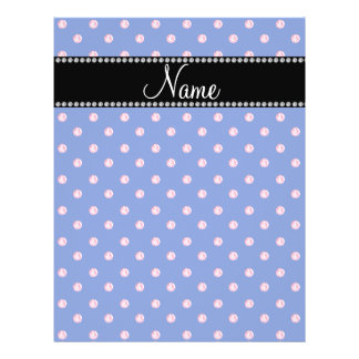 Personalized name Blue pink diamonds Flyers