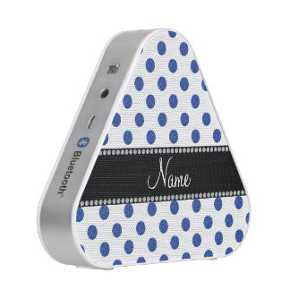 Personalized name blue polka dots