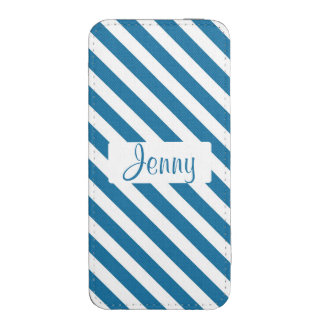 Personalized name blue stripe