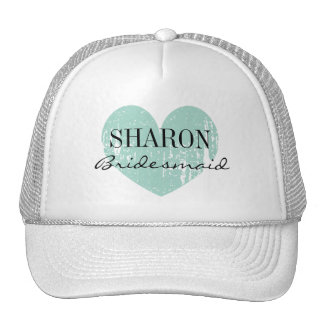 Personalized name bridesmaid hat for team bride
