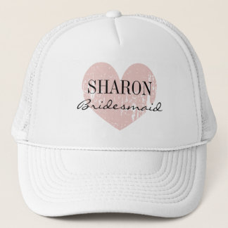 Personalized name bridesmaid hat for wedding party