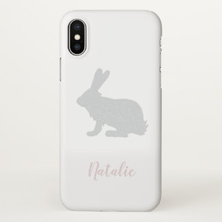Personalized Name Bunny iPhone X case