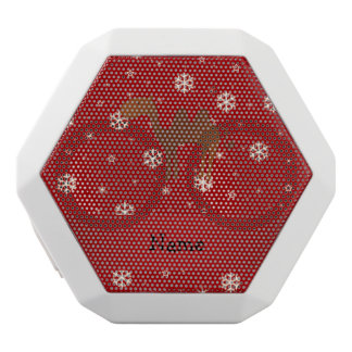 Personalized name camel red snowflakes white boombot rex bluetooth speaker