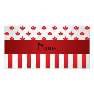 Personalized name Canada Picture Card