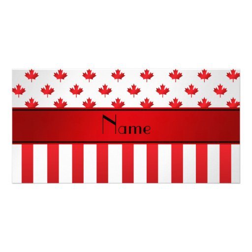Personalized name Canadian pattern Personalized Photo Card