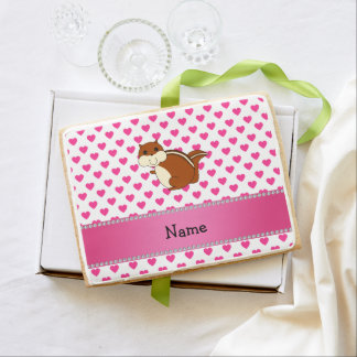 Personalized name chipmunk pink hearts