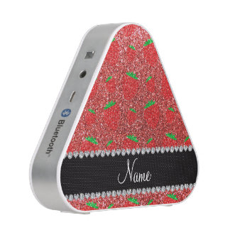 Personalized name coral pink glitter strawberry