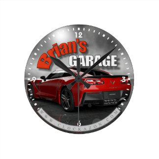 Personalized Name Corvette Garage Clock