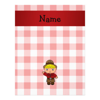 Personalized name cowboy red white checkers 21.5 cm x 28 cm flyer