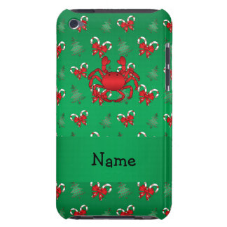Personalized name crab green candy canes bows iPod touch covers