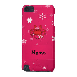 Personalized name crab pink snowflakes iPod touch (5th generation) case