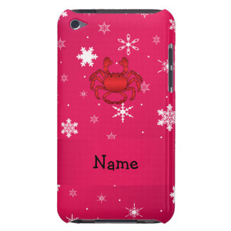 Personalized name crab pink snowflakes iPod touch Case-Mate case