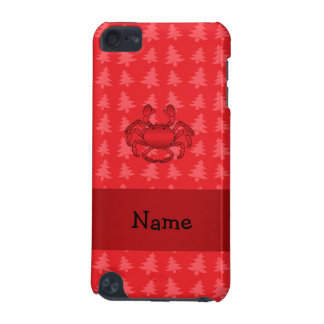 Personalized name crab red christmas trees iPod touch (5th generation) cover