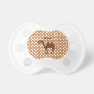 Personalized name cute camel brown polka dots dummy