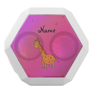 Personalized name cute giraffe white boombot rex bluetooth speaker