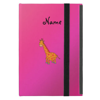 Personalized name cute giraffe cover for iPad mini