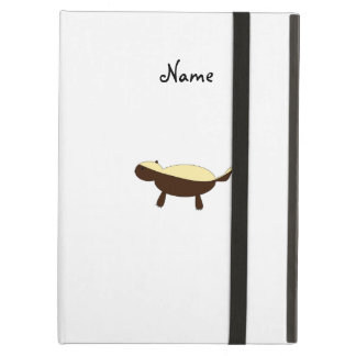 Personalized name cute honey badger iPad air cases