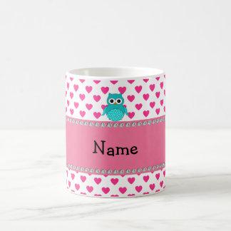 Personalized name cute owl coffee mug