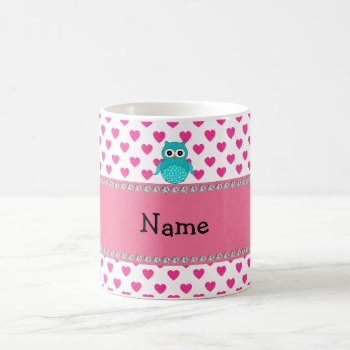 Personalized name cute owl mugs
