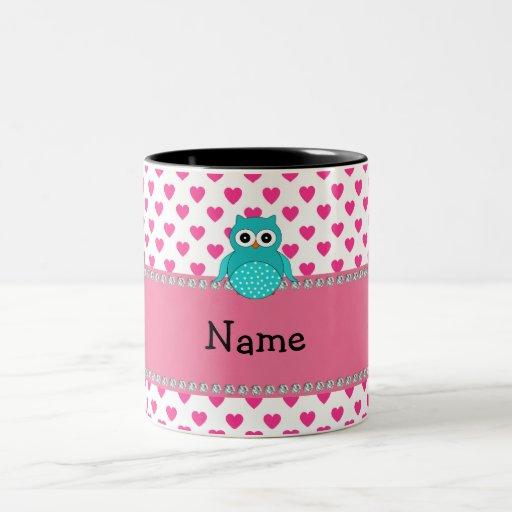 Personalized name cute owl mug