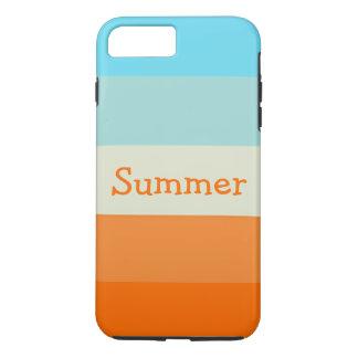 Personalized Name Cute Summer Fun Stripes iPhone 7 Plus Case