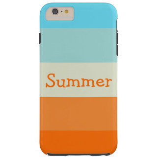 Personalized Name Cute Summer Fun Stripes Tough iPhone 6 Plus Case