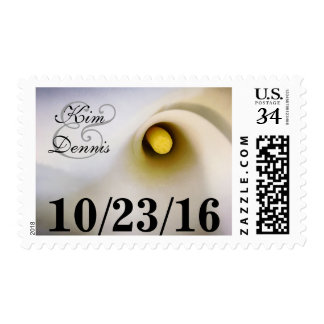 Personalized Name Date Calla Lily Postage Stamps
