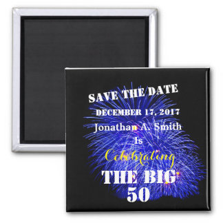 Personalized Name & Date - Square Magnet