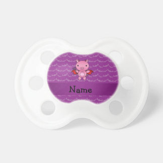 Personalized name devil pig purple bats pacifiers