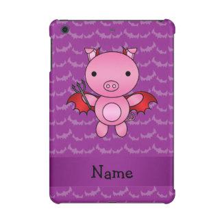Personalized name devil pig purple bats iPad mini covers