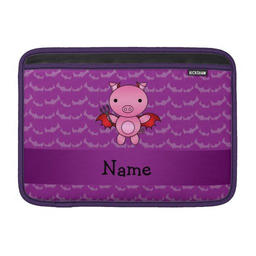 Personalized name devil pig purple bats sleeves for MacBook air