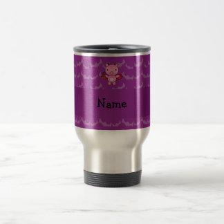 Personalized name devil pig purple bats mug