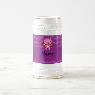 Personalized name devil pig purple bats mugs