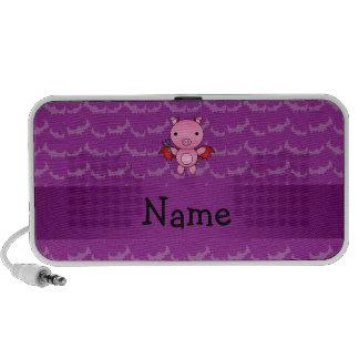 Personalized name devil pig purple bats speakers