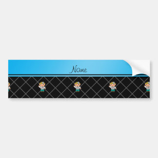 Personalized name doctor black criss cross bumper stickers
