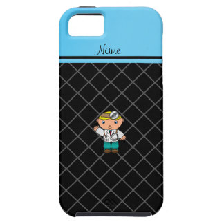 Personalized name doctor black criss cross iPhone 5 cover